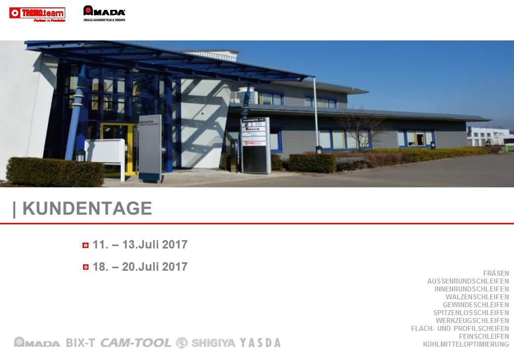 TECNO.team Kundentage Juli 2017